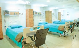 interior of new empty hospital room fully equipped